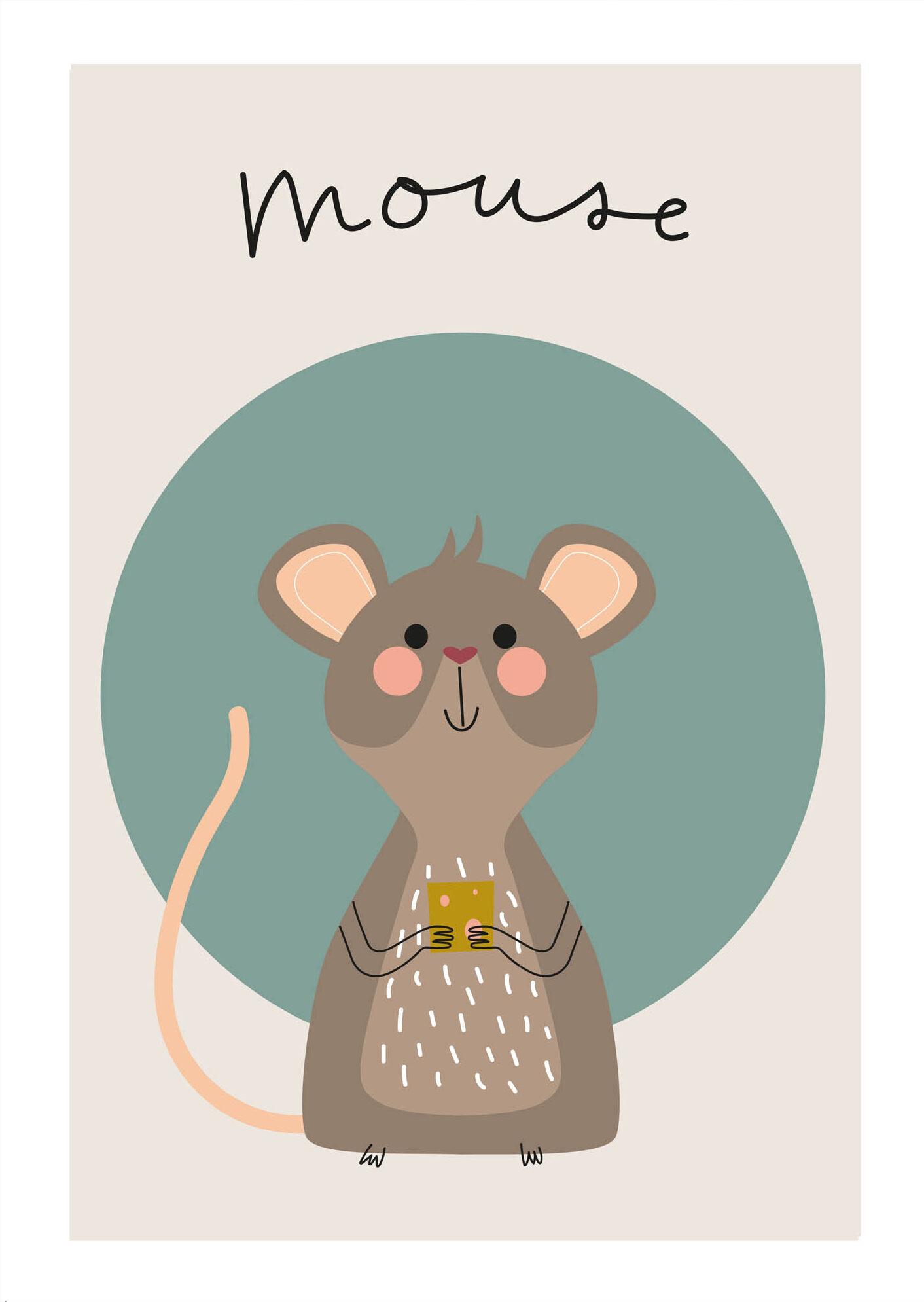 Muis - Jetske Kox Illustraties - Vrolijke posters, prints en ansichtkaarten
